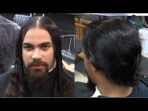 how to cut mens long hair with scissors