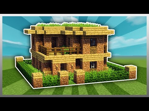 ✔️ How to UPGRADE a Dirt House! (Minecraft)
