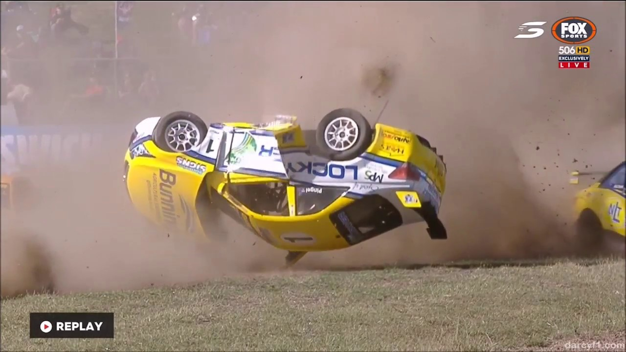 Aussie Racing Cars Crash Compilation Youtube