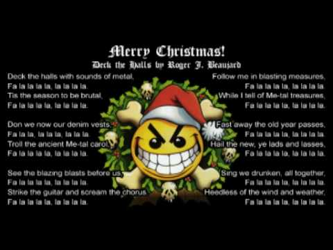 Deck the Halls Metal Style! - Death Metal Christmas Parody Song @RogerBeaujard