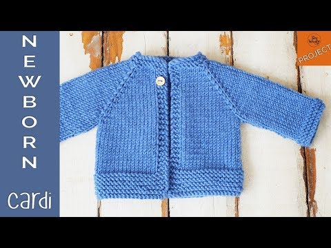 How to knit a Newborn Cardigan for beginners