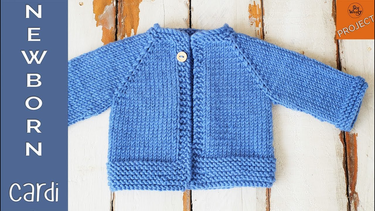 How To Knit A Newborn Cardigan For Beginners Part 1 Youtube
