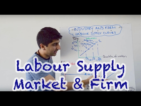 Labour Supply Curve (Market and Firm)