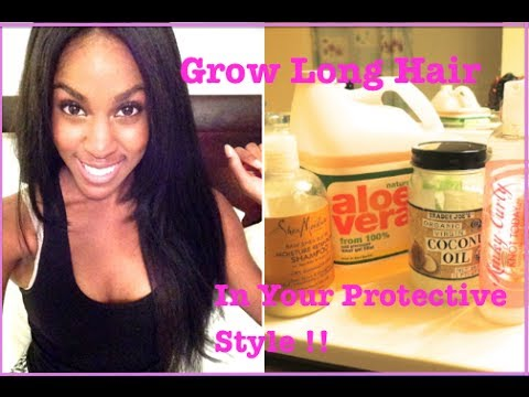NATURAL HAIR How To Grow Long Hair Under Your Protective