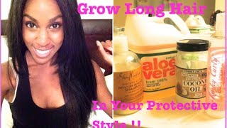 NATURAL HAIR| How To Grow Long Hair Under Your Protective Style (Wigs & Weaves)