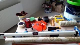 видео Какие нужны инструменты для поклейки обоев своими руками