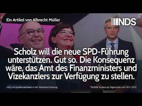 Scholz will die neue SPD-Führung unterstützen. Die Konsequenz wäre als Finanzminister zurückzutreten