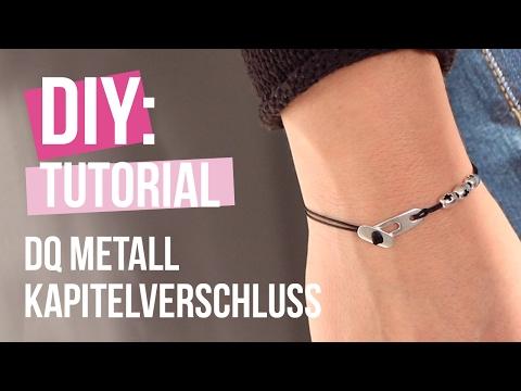 DIY TUTORIAL – Armband aus Macramé mit Kapitelverschluss aus DQ Metall – Selbst Schmuck machen
