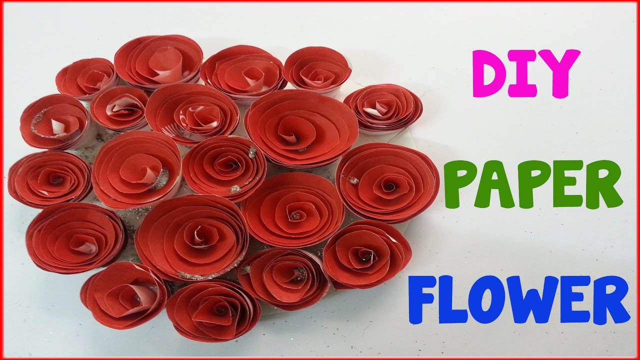 How To Make Rolled Paper Roses Quick Easy Tutorial Youtube