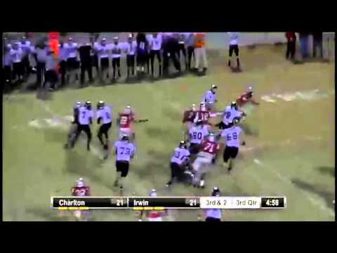 Charlton RB #8 Andrew Lee breaks out on the 45 yard TD run
