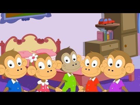 Five Little Monkeys | Nursery Rhyme | Popular Kids Nursery Rhymes