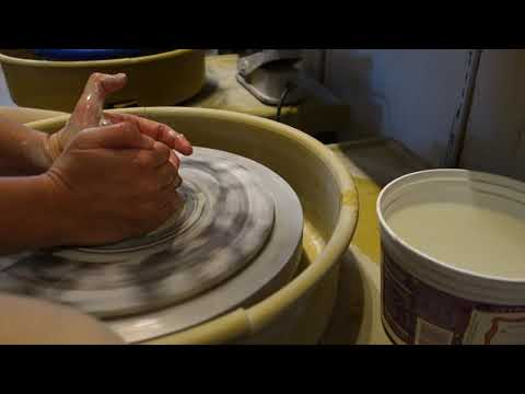 Centering Clay on a Potter's Wheel
