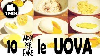 10 modi per cucinare le uova 10 ways to cook eggs ricette al volo