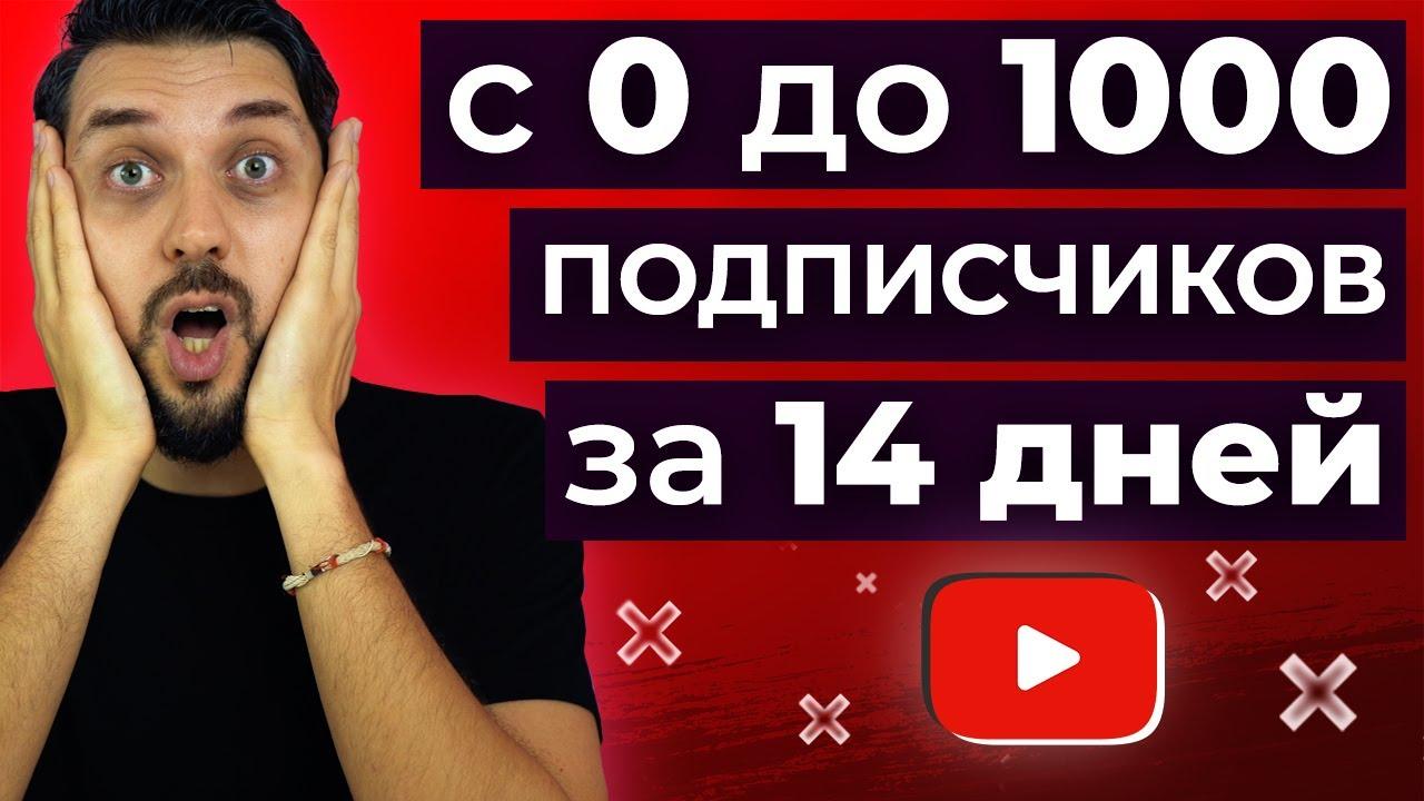 Как набрать первую 1000 подписчиков на YouTube за 14 дней с нуля