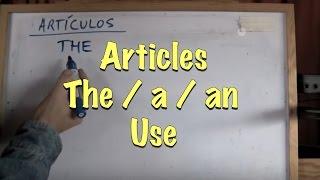 INGLÉS. 1- Los Artículos. Inglés para hablantes de español. Tutorial