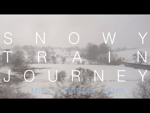 Snowy countryside train journey | Soothing relaxation whisper guide, with lip-smacking. ASMR.
