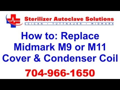 How to repair a Midmark M11 / M9 steam sterilizer (remove top cover)