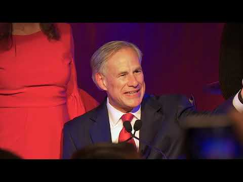 Texas Governor Greg Abbott Speaks after Winning Reelection