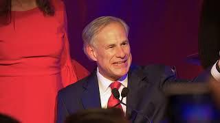 Texas Governor Greg Abbott Speaks after Winning Reelection