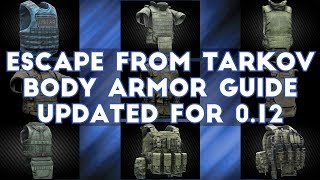 Escape From Tarkov - Body Armor Guide UPDATED FOR 0.12