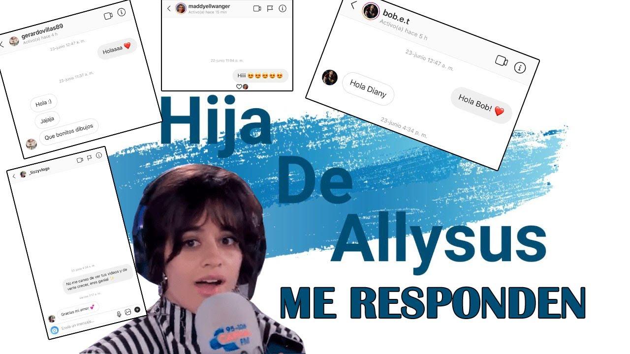 ESCRIBIENDO A FAMOSOS *ME RESPONDEN* | Hija De Allysus