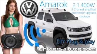 DIY Plug & play Subwoofer/amplifier upgrade to factory VW Amarok sound system