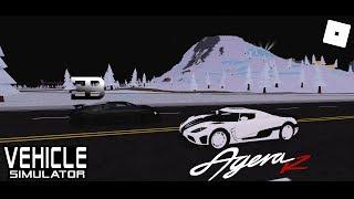 Koenigsegg Agera R vs Bugatti Veyron (Vehicle Simulator) - Roblox