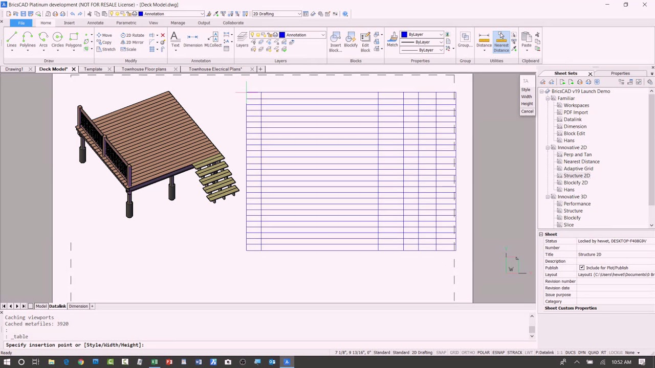 Data Linking - BricsCAD Demo