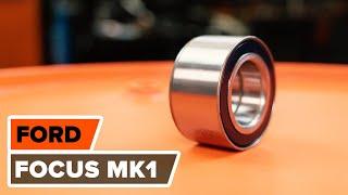 Kuinka vaihtaa etupyöränlaakerit FORD FOCUS (DAW) -merkkiseen autoon [AUTODOC -OHJEVIDEO]