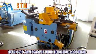 Saint Machinery STM 75CNC pipe bending machine, mandrel bender, double-stack tooling, exhaust bender