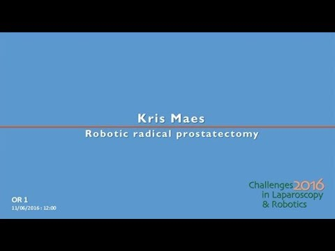 CILR 2016 - Kris Maes - Robotic radical prostatectomy