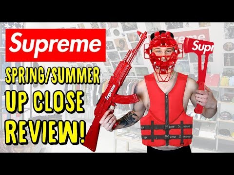 THE UP CLOSE LOOK AT SUPREME'S Spring/Summer 2018  FULL COLLECTION