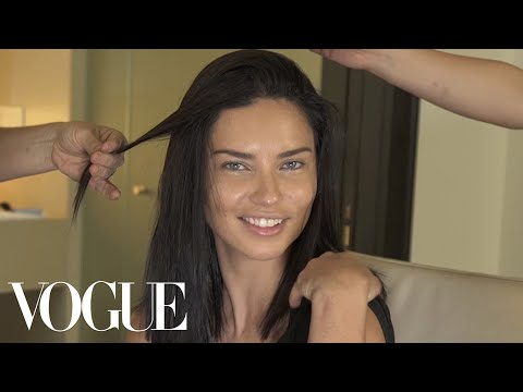 Adriana Lima Gets Ready for the Tom Ford Show | Vogue