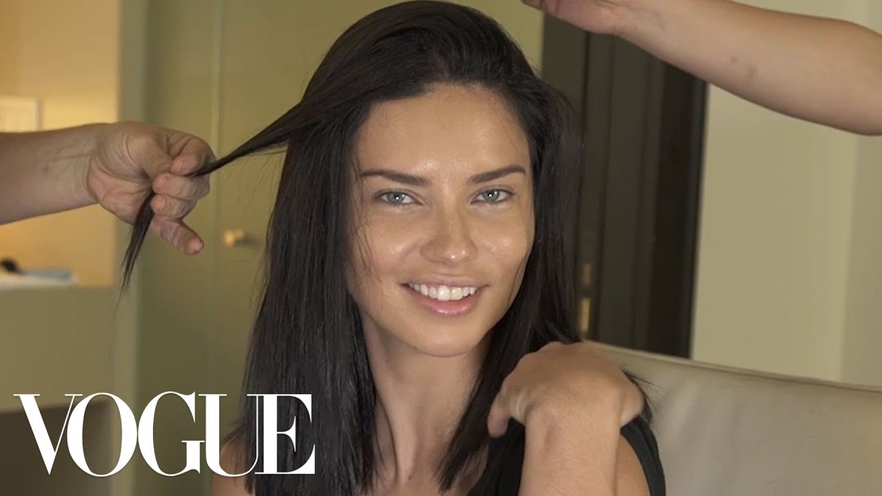 Adriana Lima Gets Ready for the Tom Ford Show   Vogue