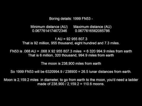 Asteroid Buzz 1999 FN53 May 14, 2015