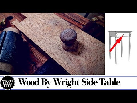 Side Table Part 12 | Making and Installing The Drawer Pull