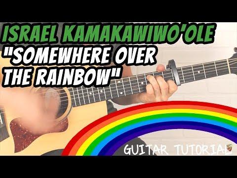 """Israel """"IZ"""" Kamakawiwo 'ole - Somewhere Over The Rainbow - Guitar Lesson"""