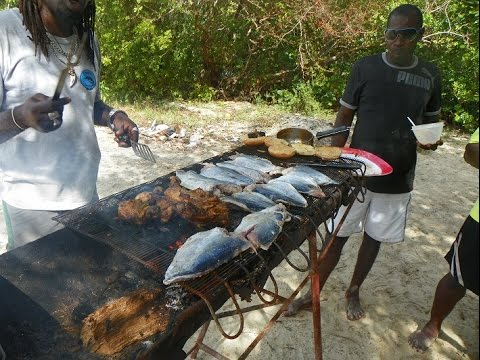 HD Tobago Cooking Fresh Fish On No Mans Land  Caribbean All Day Boat Tour