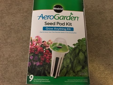 "Quick AeroGarden ""Grow Anything"" Hydroponic Seed Kit How To Guide"
