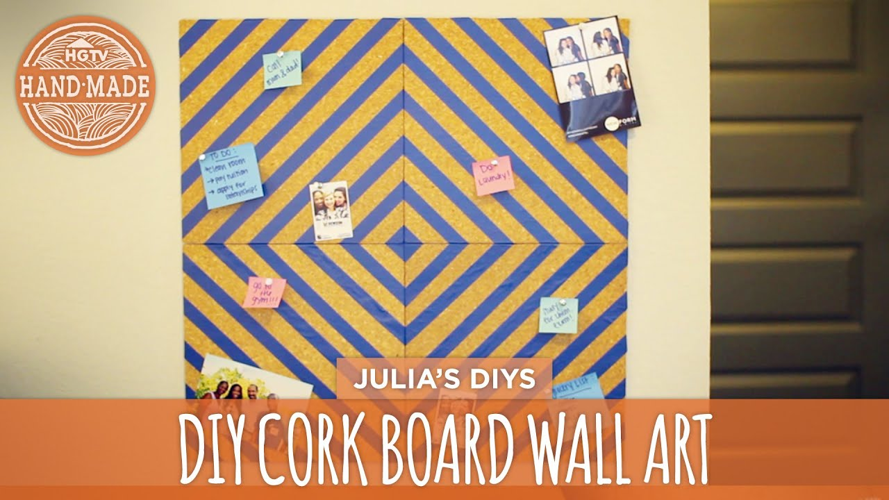 Quick & Easy Corkboard Wall Art - Back to School! - HGTV Handmade ...