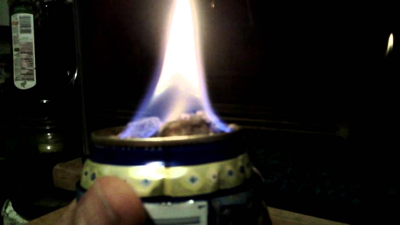 aluminum can ethanol candle mini indoor fireplace youtube