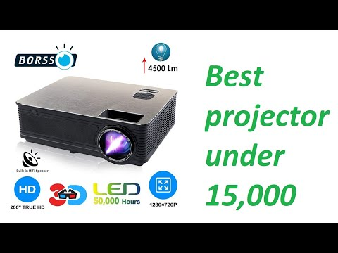 BORSSO  HD LED projector unboxing and review