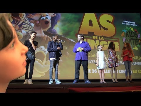 VLOG • KIDS UNITED à l'avant-première des As de la Jungle à Paris - Studio Bubble Tea