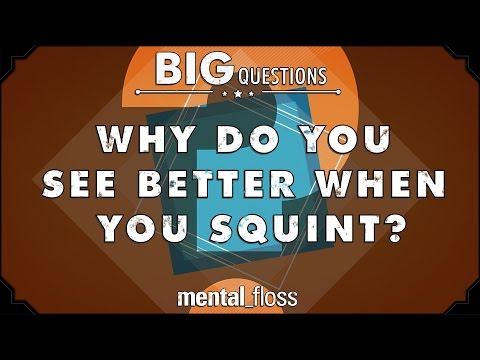 Why Do We See More Clearly When We Squint Our Eyes?