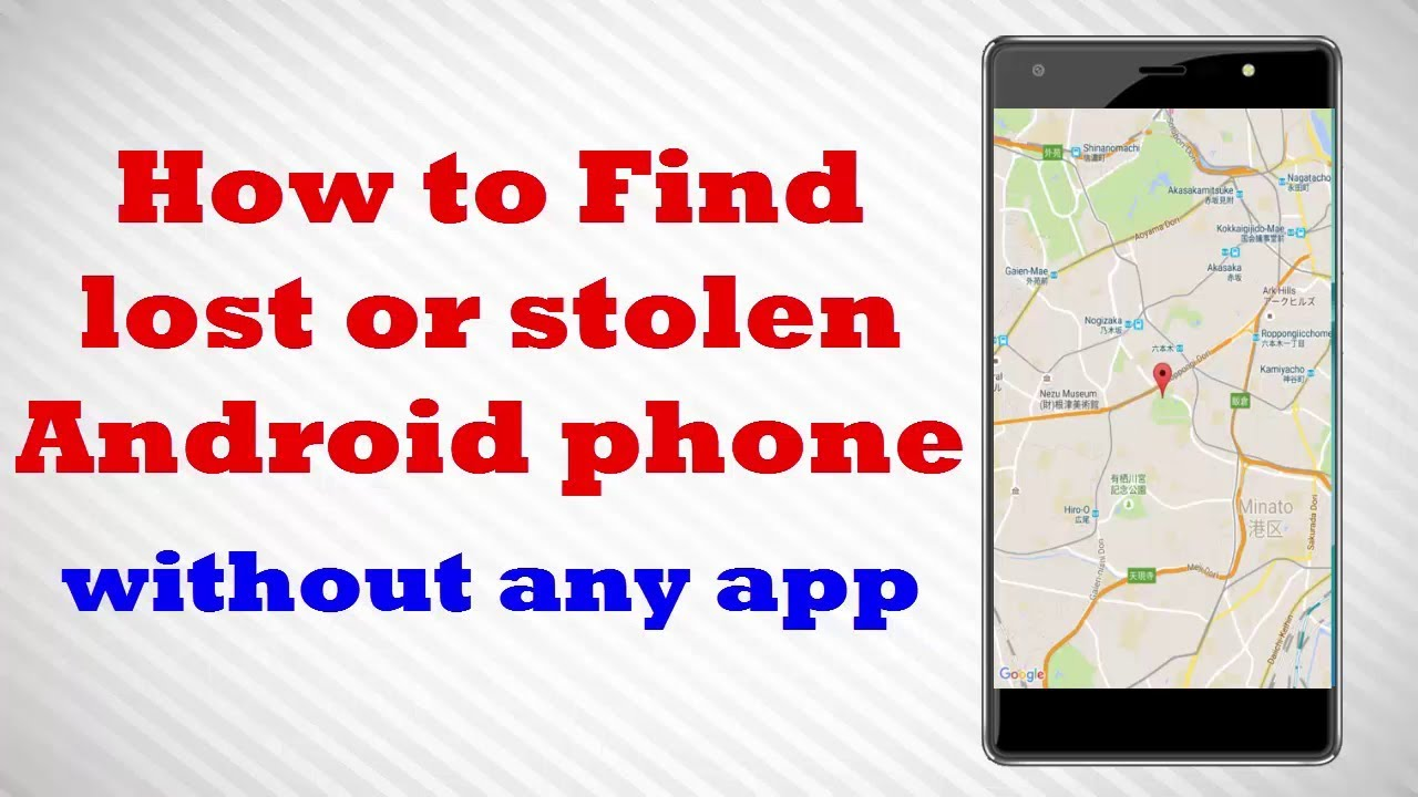 How to find lost android without app