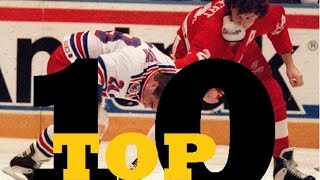 Top Ten NHL Hockey Fights of Bob Probert