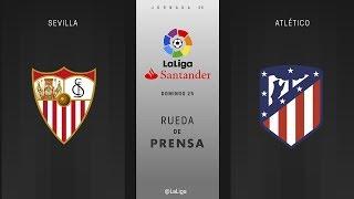 Rueda de prensa Sevilla vs Atlético