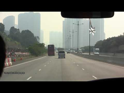 Car Ride under severe air pollution due to typhoon Nesat and Haitang @ Saturday late afternoon