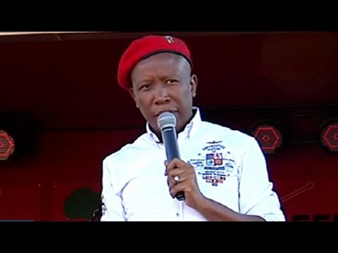 CIC Malema addresses EFF election rally in Nquthu