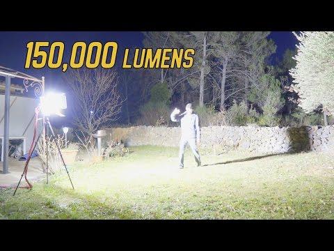 Mon spot LED 1600W fait maison - 150'000 Lumens !